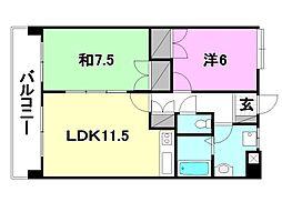 UTARA  HOUSE[402 号室号室]の間取り