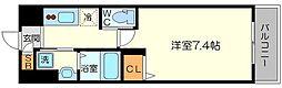 PLACZ SHIN-OSAKA 4階1Kの間取り