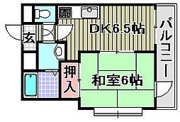 ABCライフ東岸和田[5階]の間取り