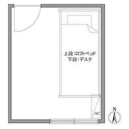 プラザ早稲田[0203号室]の間取り