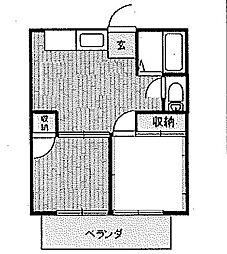 神奈川県伊勢原市沼目5丁目の賃貸アパートの間取り