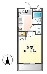 愛知県名古屋市中村区鈍池町3の賃貸マンションの間取り