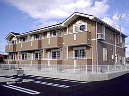 群馬県高崎市貝沢町の賃貸アパートの外観