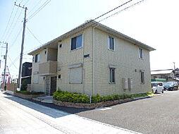 茨城県ひたちなか市峰後の賃貸アパートの外観
