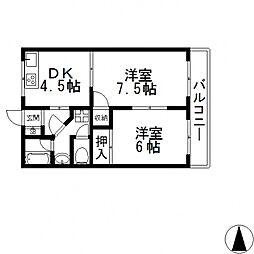 OMレジデンス八戸ノ里[301号室号室]の間取り