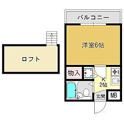 シャルマンフジ大和高田弐番館[3階]の間取り