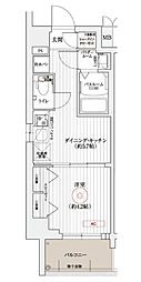 エステムコート京都東寺朱雀邸 5階1DKの間取り