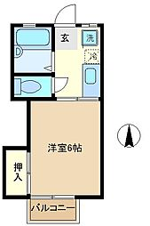 埼玉県さいたま市中央区本町西1丁目の賃貸アパートの間取り