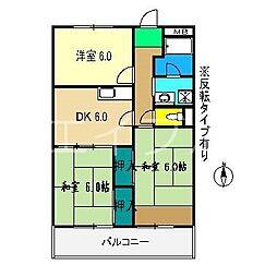 高須グランドハイツ[3階]の間取り