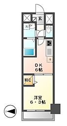 メイボーテセラ(MEIBOU TESERA)[3階]の間取り