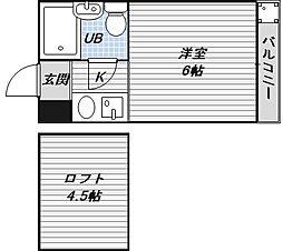 シティパレス21駒川中野[3階]の間取り