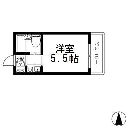 ロータリーマンション永和[406号室号室]の間取り