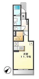 ラ・シエル II[1階]の間取り