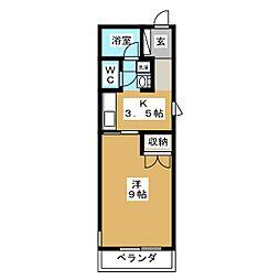 SKRハイツII[1階]の間取り