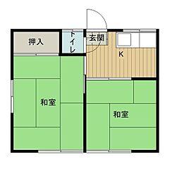 竹美荘[201号室]の間取り