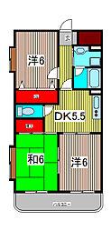 ガーデンハウス塚越[3階]の間取り
