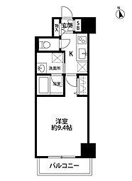 S-FORT新潟本町 4階1Kの間取り