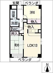 ファミルサカイ[6階]の間取り