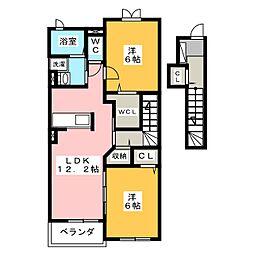 マーベラス スクエア I[2階]の間取り