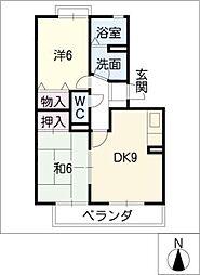 ロイヤルガーデン昭和A棟[2階]の間取り