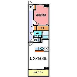 ボンヌ・シャンス LEGO[2階]の間取り