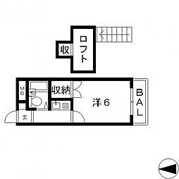 ラパンプラス[311号室号室]の間取り