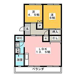 コーポひかり[4階]の間取り