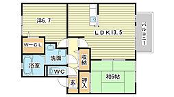 ディアコート太田[101号室]の間取り