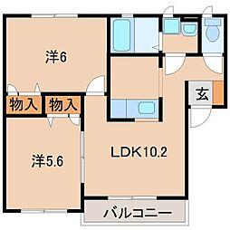 ボヌールメゾン 岡崎[2階]の間取り
