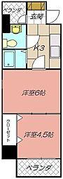 ロイヤルキャッスル[603号室]の間取り