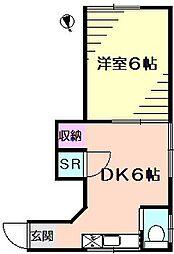 神奈川県横浜市保土ケ谷区天王町1丁目の賃貸アパートの間取り