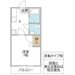 オリーブハウス A[207号室号室]の間取り