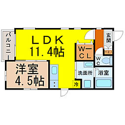 MiyabiChikusa(ミヤビチクサ)[301号室]の間取り