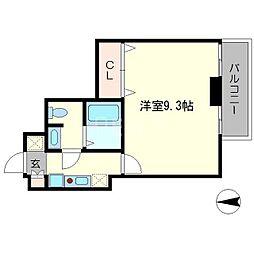 おおきに出町柳サニーアパートメント[3階]の間取り