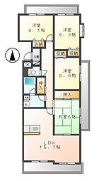 グランドコート鴻の巣[1階]の間取り