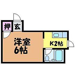 愛媛県松山市清水町2丁目の賃貸マンションの間取り