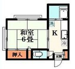 MihamaII ~ミハマツー~ 2階1Kの間取り