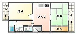 ホワイトパル[3階]の間取り