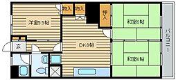 広島県広島市佐伯区五日市駅前3丁目の賃貸マンションの間取り