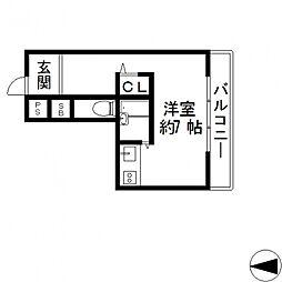 イヌーボ小若江[301号室号室]の間取り