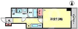 Comenz梅田(コメンズ梅田) 11階1Kの間取り