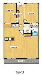 インペリアル大賀[2階]の間取り