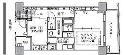 アクティ汐留 15階1LDKの間取り