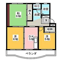 ピュアコーポA[3階]の間取り