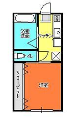 ハイツ吉田B[201号室]の間取り