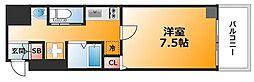 大阪府大阪市中央区内本町2丁目の賃貸マンションの間取り