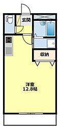 愛知県豊田市前山町4丁目の賃貸アパートの間取り