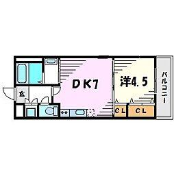 エクシージュ武庫川[2階]の間取り