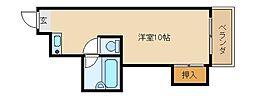 ハイツ大田[1階]の間取り