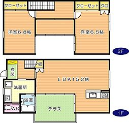 ラグランジュール四番館[2階]の間取り